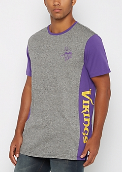 Minnesota Vikings Long Length Marled Tee