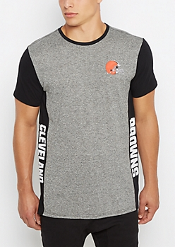 Cleveland Browns Long Length Marled Tee