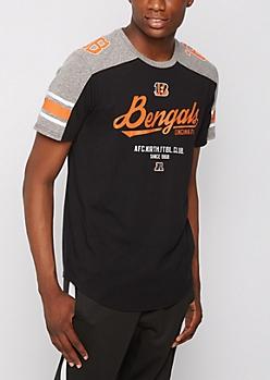 Cincinnati Bengals Athletic Striped Tee