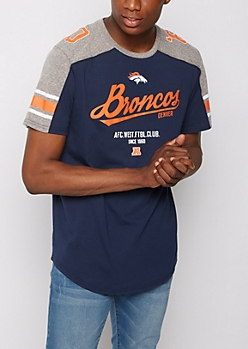 Denver Broncos Athletic Striped Tee