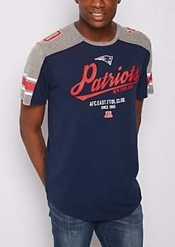New England Patriots Athletic Striped Tee