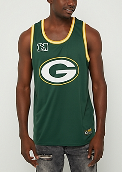 Green Bay Packers Mesh Logo Jersey Tank