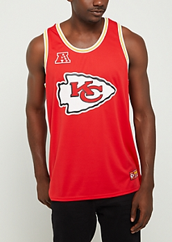 Kansas City Chiefs Mesh Logo Jersey Tank