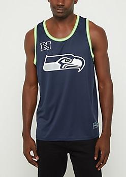 Seattle Seahawks Mesh Logo Jersey Tank