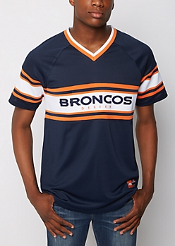 Denver Broncos Knit Striped Tee