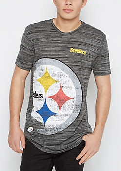 Pittsburgh Steelers Distressed Logo Tee