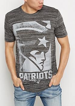 New England Patriots Grayscale Logo Tee