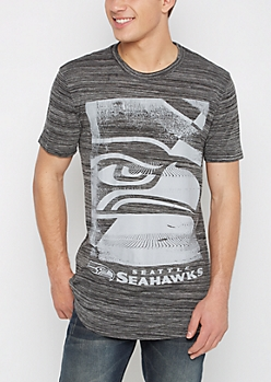 Seattle Seahawks Grayscale Logo Tee