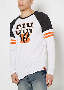 Cincinnati Bengals Striped Football Tee