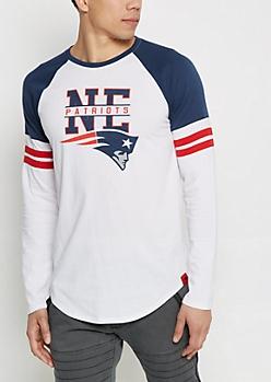 New England Patriots Striped Football Tee
