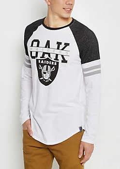 Oakland Raiders Striped Football Tee