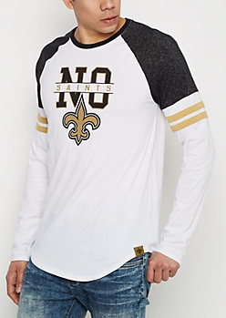 New Orleans Saints Striped Football Tee