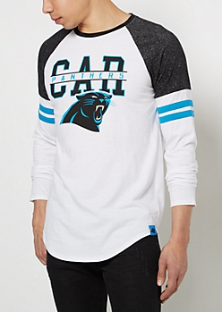 Carolina Panthers Striped Football Tee