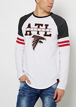 Atlanta Falcons Striped Football Tee