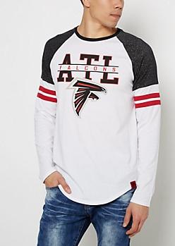 Atlanta Falcons Striped Football Tee