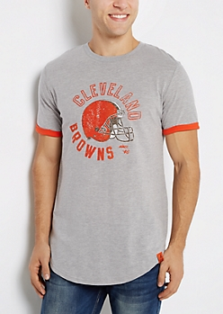 Cleveland Browns Flocked Cuffed Tee