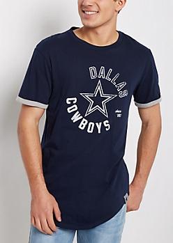 Dallas Cowboys Flocked Cuffed Tee