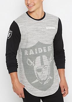 Oakland Raiders Long Length Logo Tee
