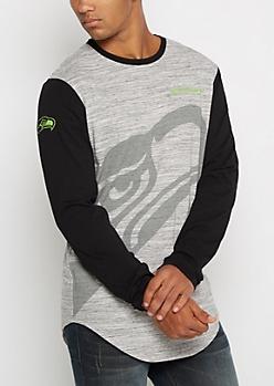 Seattle Seahawks Long Length Logo Tee