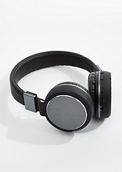Gunmetal Metallic Bluetooth Headphones