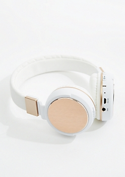 Gold Metallic Bluetooth Headphones