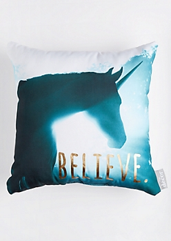 Unicorn Believe Throw Pillow