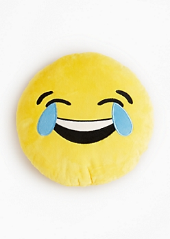 Tears of Joy Emoji Throw Pillow