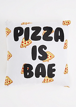 Pizza Is Bae Throw Pillow