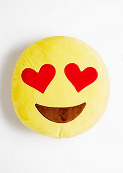 Eye of Hearts Emoji Pillow