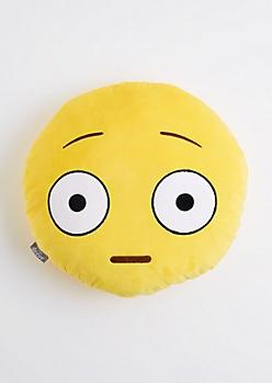 Surprised Smiley Emoji Throw Pillow