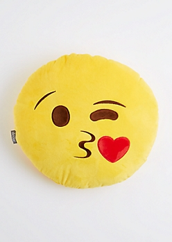 Winking Kissy Face Throw Pillow