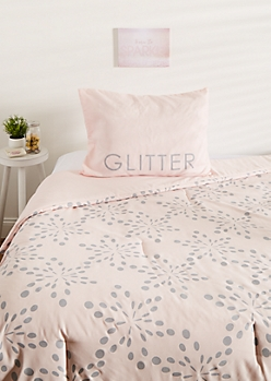 Twin XL - Dream In Glitter 2-Piece Comforter Set