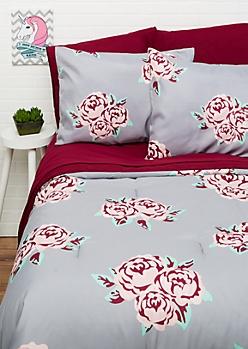 Full/Queen - Floral 7-Piece Comforter Set