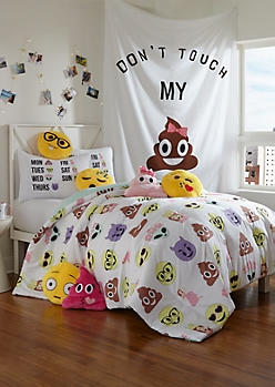 Twin XL - Alien Emoji 2-Piece Comforter Set