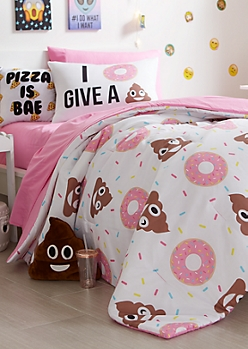 Full - Donut Emoji 7-Piece Comforter Set