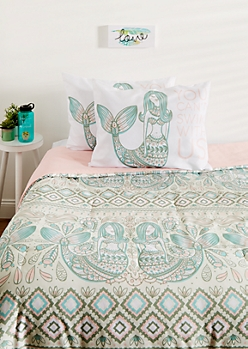 Full - Mermaid 3-Piece Comforter Set
