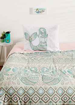 Twin XL - Mermaid 2-Piece Comforter Set