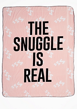 The Snuggle Is Real Mock Sherpa Blanket