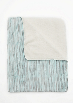 Mint Space Dye Fleece Blanket