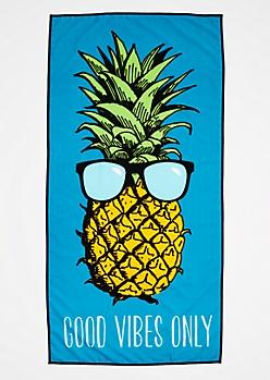 Good Vibes Pineapple Beach Towel