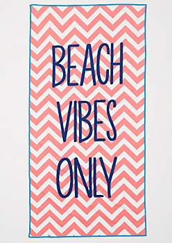 Beach Vibes Only Beach Towel
