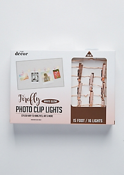 Rose Gold Chrome Firefly Photo Clip String Lights