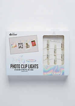 Clear Iridescent Firefly Photo Clip String Lights