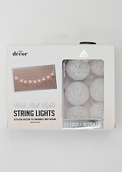 White Ball String Lights