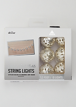 Silver Metal Ball String Lights
