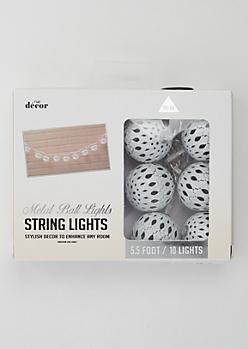 White Metal Ball String Lights