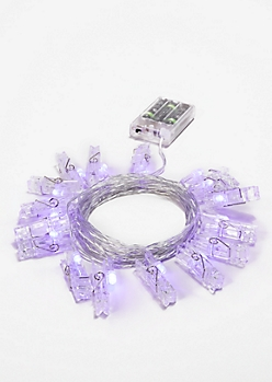 Purple LED Photo Clip Lights