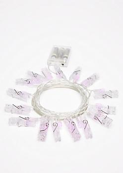 Pink LED Photo Clip String Lights