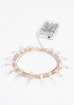 Pink Firefly LED Photo Clip String Lights