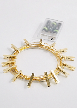Gold Firefly Photo Clip String Lights